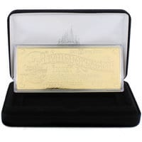 Image of Walt Disney World Replica 24K Gold Plated Transportation Ticket - Limited Edition # 1