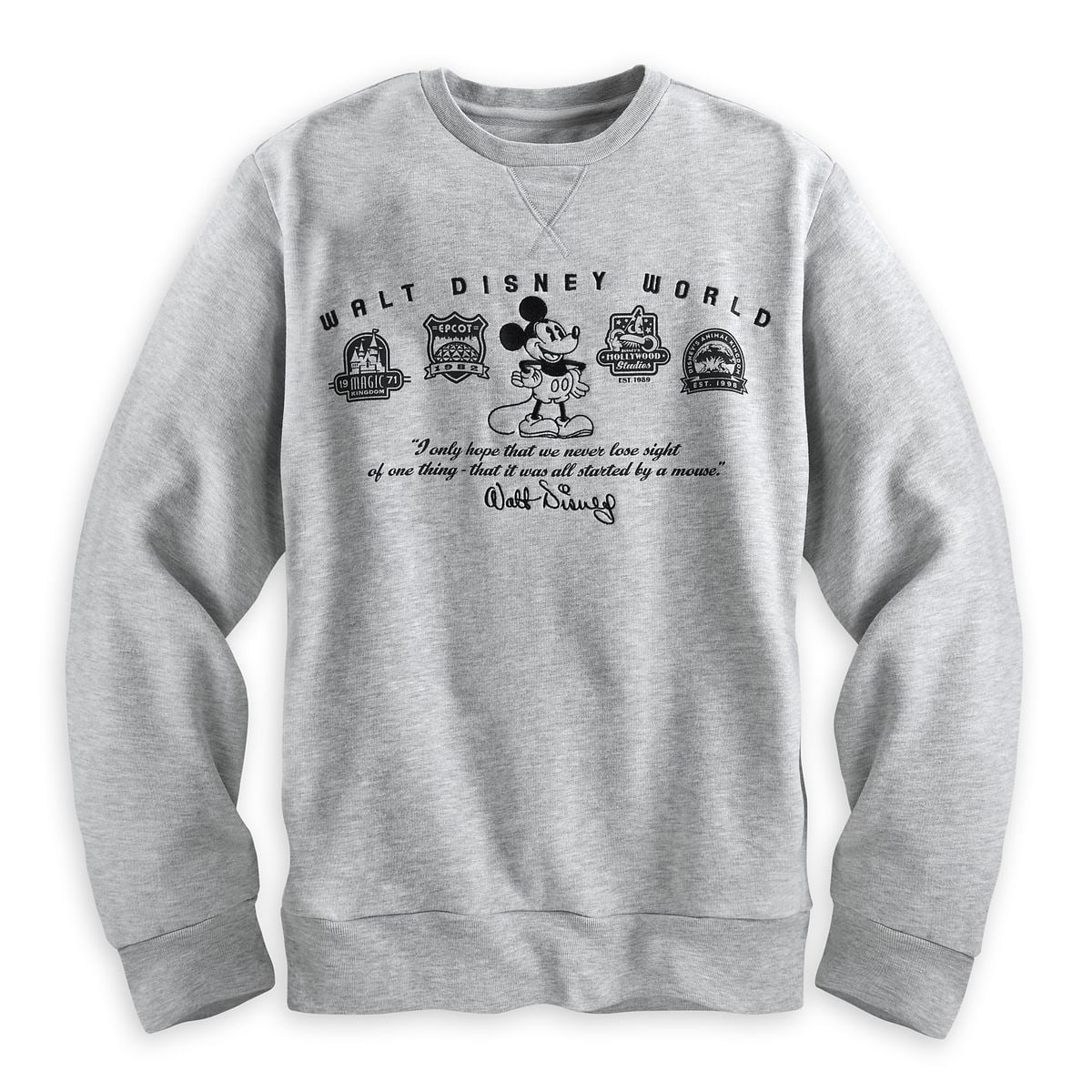 product image of mickey mouse four parks sweatshirt for men walt disney world 1