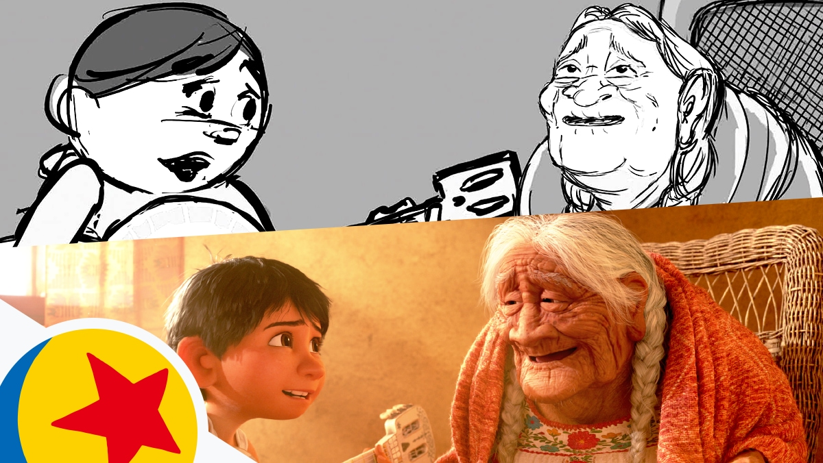 Miguel Sings to Mamá Coco | Pixar Side by Side