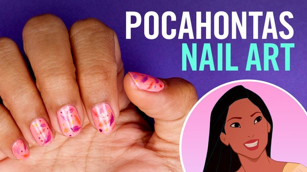 Pocahontas Nail Art   TIPS by Disney Style