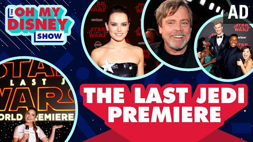 Red Carpet Interviews at the World Premiere of Star Wars: The Last Jedi | Oh My Disney Show
