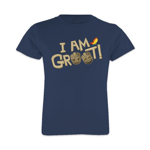 ''I Am Groot'' Text Emoji Tee for Girls - Customizable