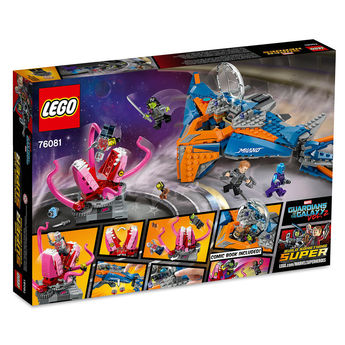 The Milano vs The Abilisk Playset by LEGO  Guardians of the