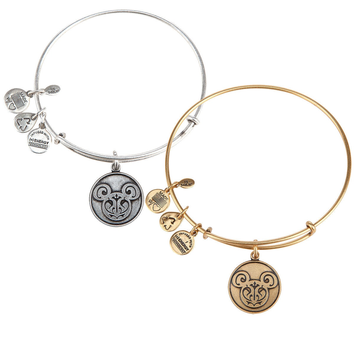 Product Image Of Mickey Mouse Filigree Bangle By Alex And Ani 1