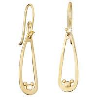 Mickey Mouse Drop Earrings - 14K
