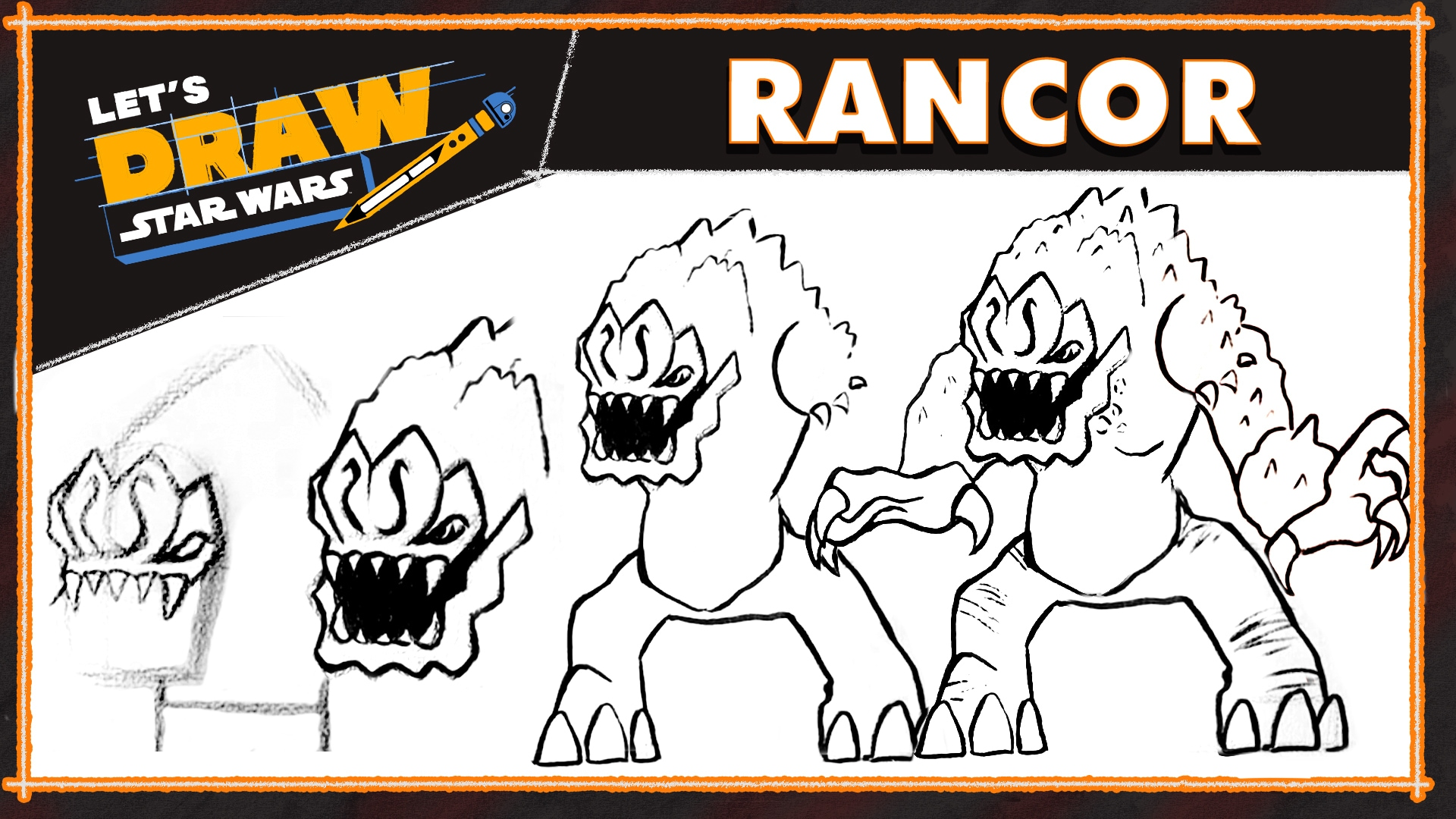 How to Draw a Rancor | Let's Draw Star Wars