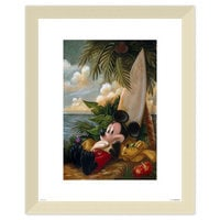 Image of Mickey Mouse and Pluto ''Sundown Surfer Mickey Mouse'' Giclée by Darren Wilson # 5