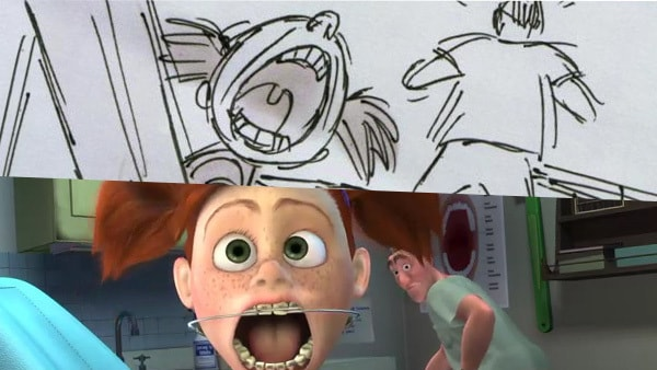 The Dentist Scene from Finding Nemo | Pixar Side by Side