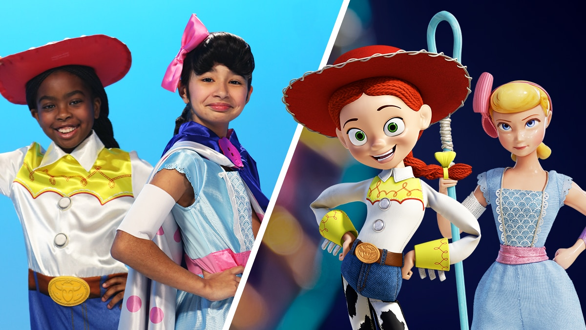 Toy Story 4 Hair Tutorial: Bo Peep & Jessie | Disney Family