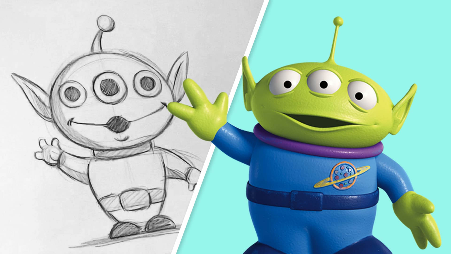 How to Draw the Aliens from Toy Story | Draw With Pixar