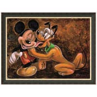 Image of ''Mickey and Pluto'' Giclée by Darren Wilson # 6