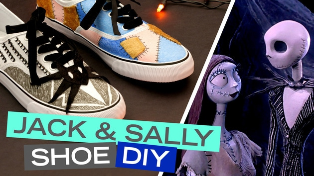 Disney Style DIY | Jack & Sally Shoes