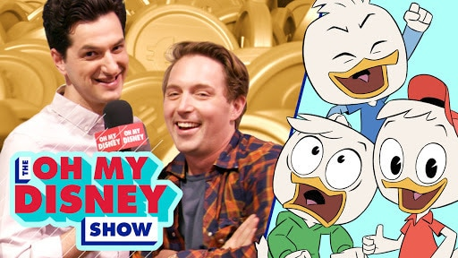 The Cast of DuckTales Answers Questions in Scrooge McDuck's Money Bin | Oh My Disney
