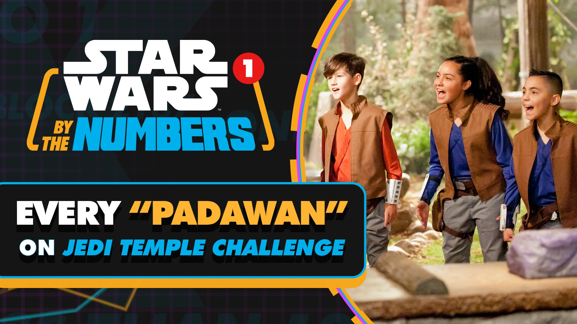 Every 'Padawan' on Jedi Temple Challenge | Star Wars By the Numbers