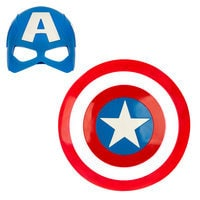 Image of Captain America Mask & Shield Set # 1