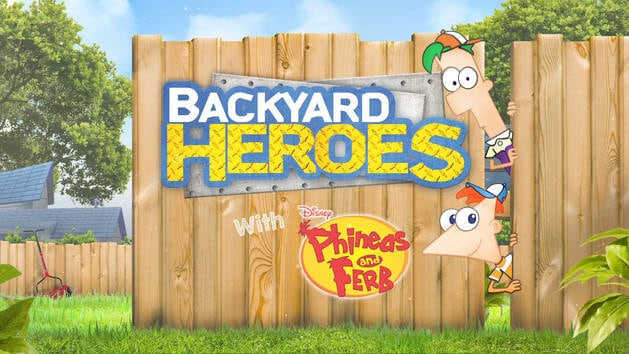 Backyard Heroes with Phineas and Ferbs - Bon the Water Ski Champion