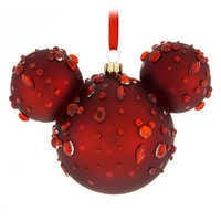 Image of Mickey Mouse Icon Glass Ornament - Ruby Gems # 1