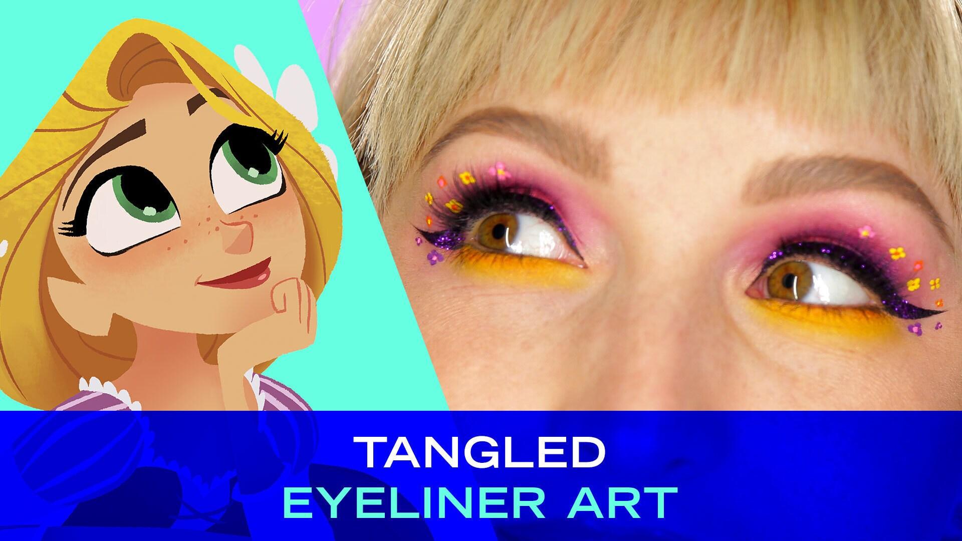 Disney Style: Tangled Eyeliner Art
