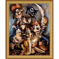 Image of Mickey Mouse and Friends ''Motley Crew'' Giclée by Darren Wilson # 8