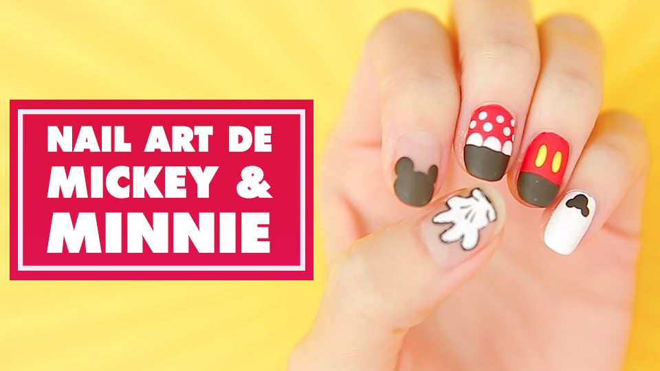 Nail Art de Mickey & Minnie - Oh My Disney