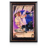 Image of Star Wars Movie Poster Reproduction Metal Print - Retro - Framed # 1