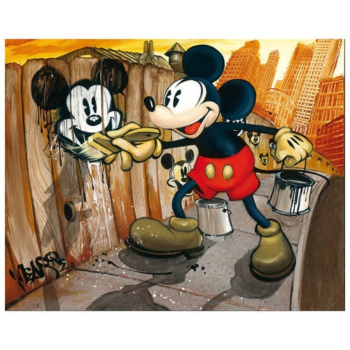 Mickey Mouse ''Mickey da Vinci''  Giclée on Canvas - BLOC28