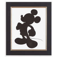 Image of Mickey Mouse Silhouette I Framed Giclée on Archival Paper by Ethan Allen # 1