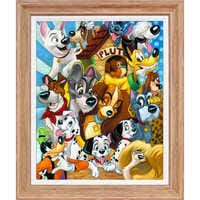 Image of ''Disney Dogs'' Giclée by Tim Rogerson # 1