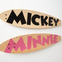 Mickey Mouse ''Mickey Longboard Wall Art II'' by Ethan Allen