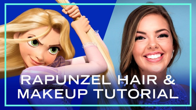 Rapunzel Hair and Makeup Tutorial for Prom