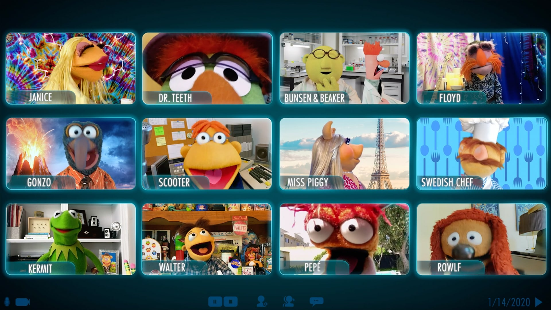 The Muppets Video Call | Muppets Now | Disney+