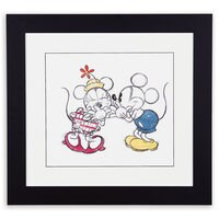 Mickey and Minnie Mouse Sketch I Framed Giclée on Archival Paper by Ethan Allen