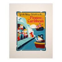Pirates of the Caribbean Retro Poster Deluxe Print