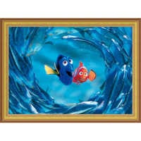 Image of Finding Nemo ''The Moonfish entertain Marlin and Dory'' Giclé # 8
