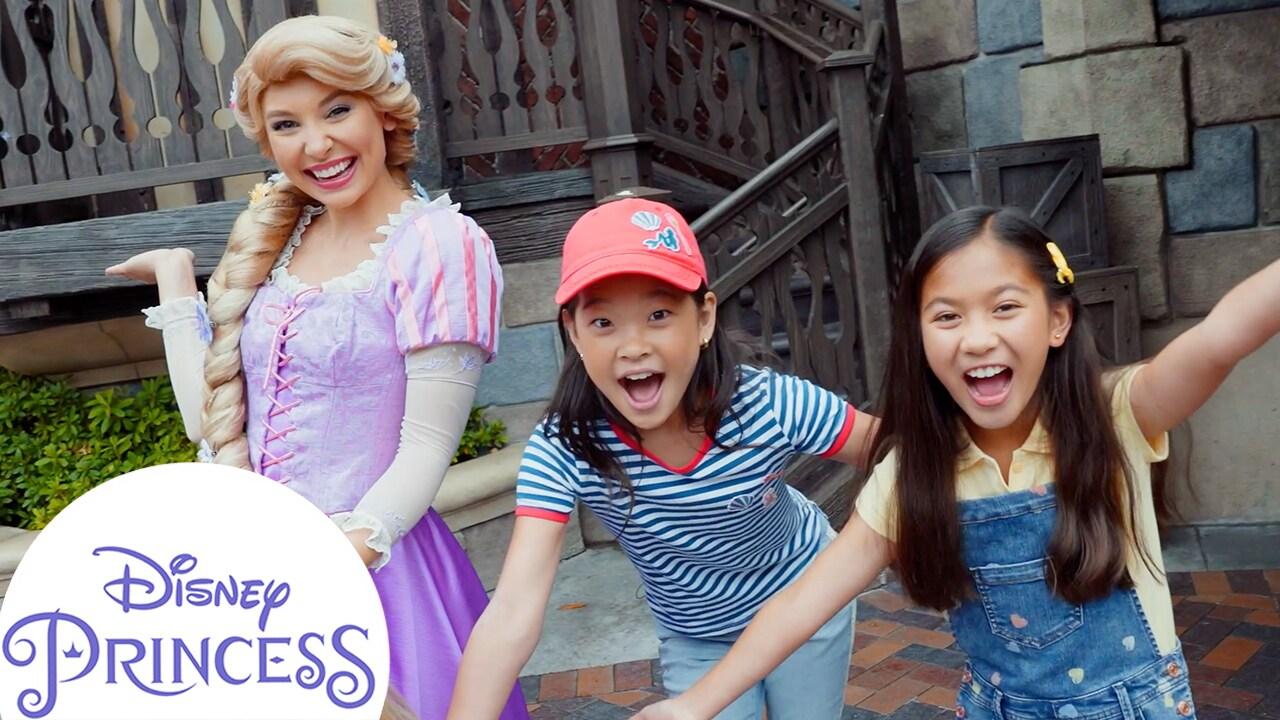 Asking Rapunzel Questions at Disneyland! | Disney Princess