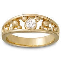 Image of Diamond Mickey Mouse Ring for Men - 18K Yellow Gold # 1