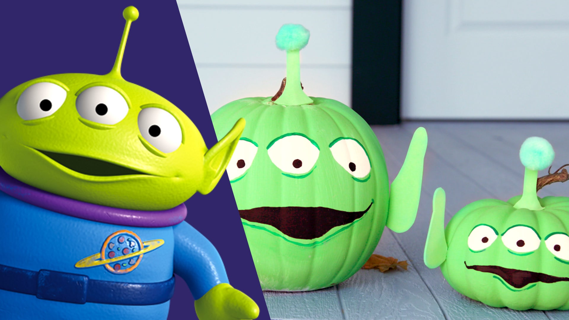 Toy Story Alien Pumpkin | Disney DIY by Disney Family