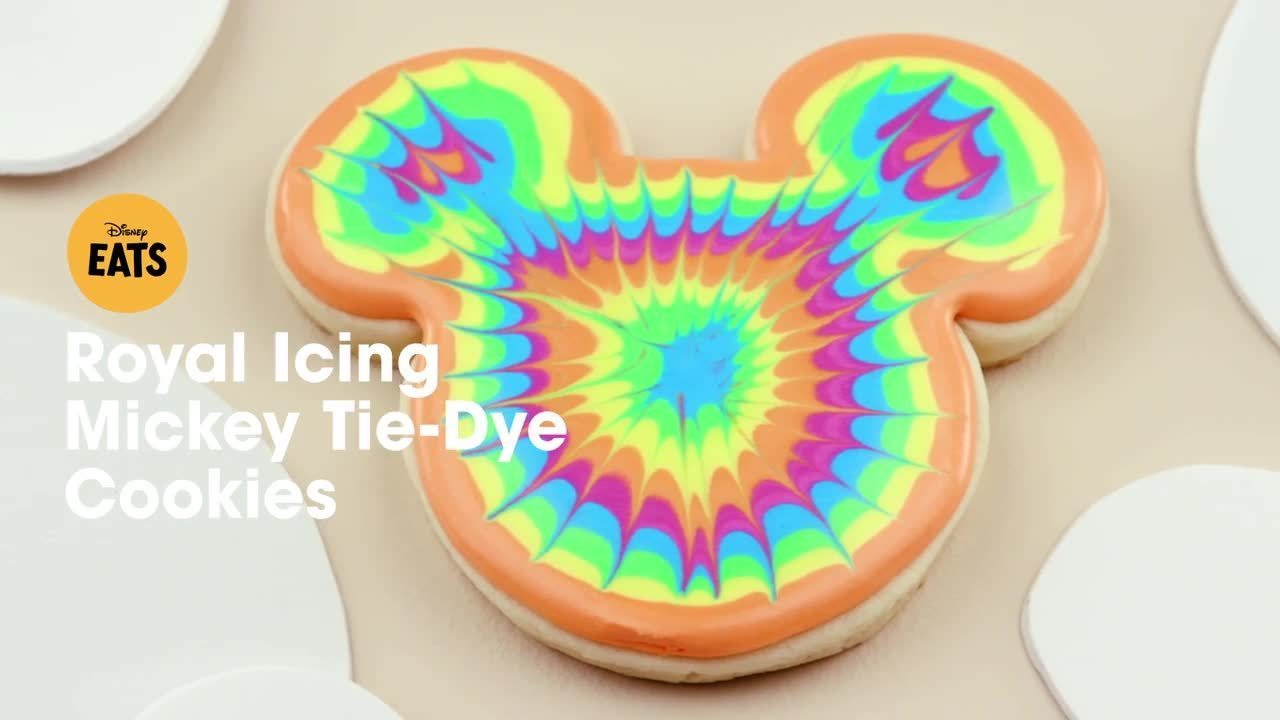 Royal Icing Mickey Tie-Dye Cookies | Disney Eats