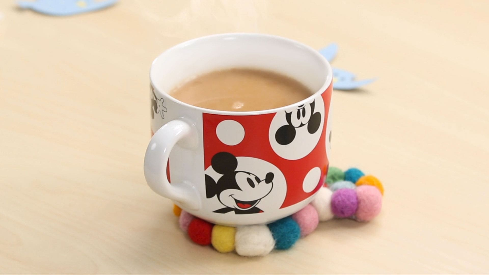 Mickey Wool Coasters | Disney DIY