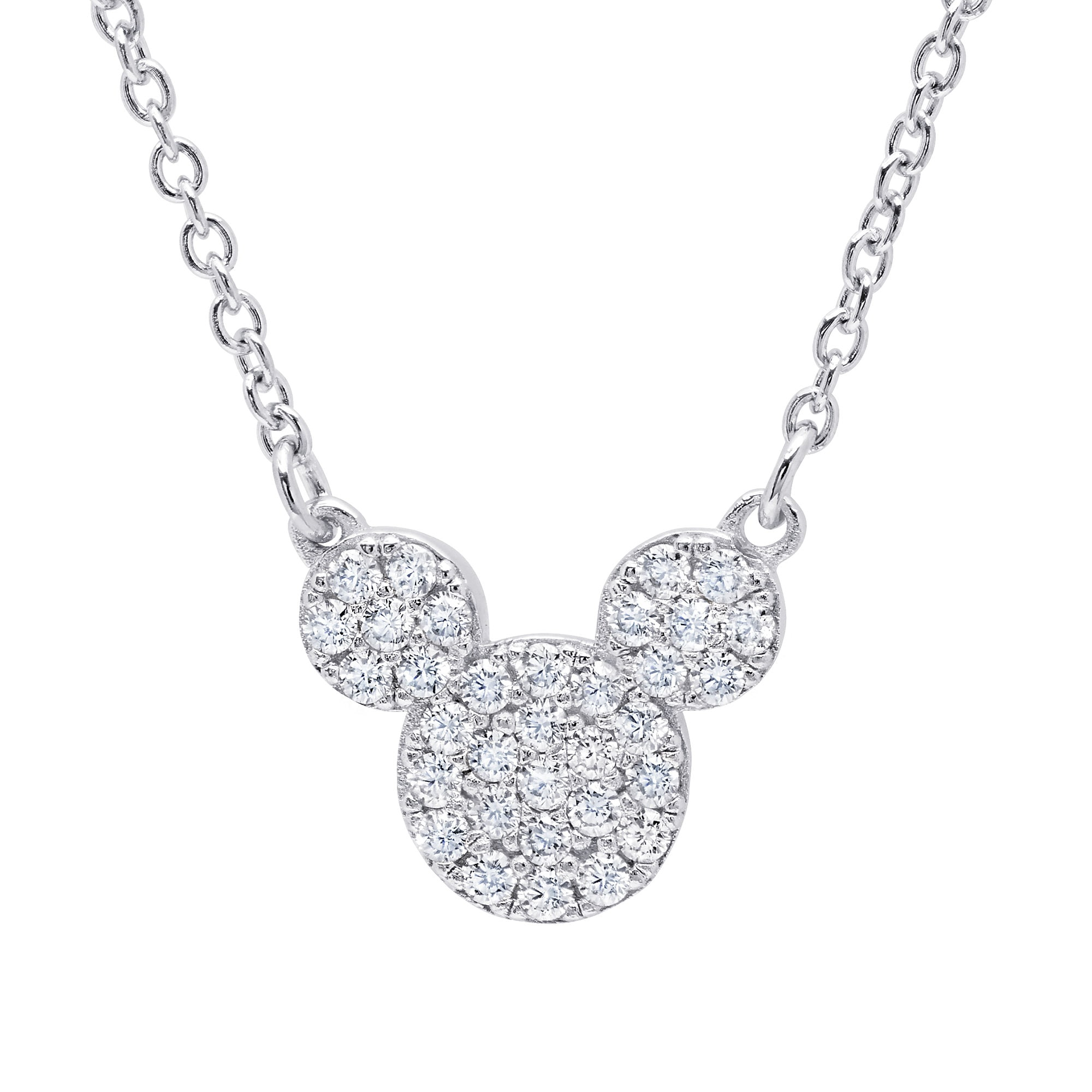 art necklace deco diamond platinum pendant