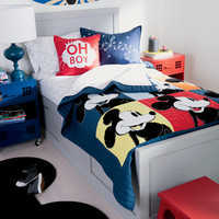 Image of Mickey Mouse Color Block Mickey Quilt by Ethan Allen # 3