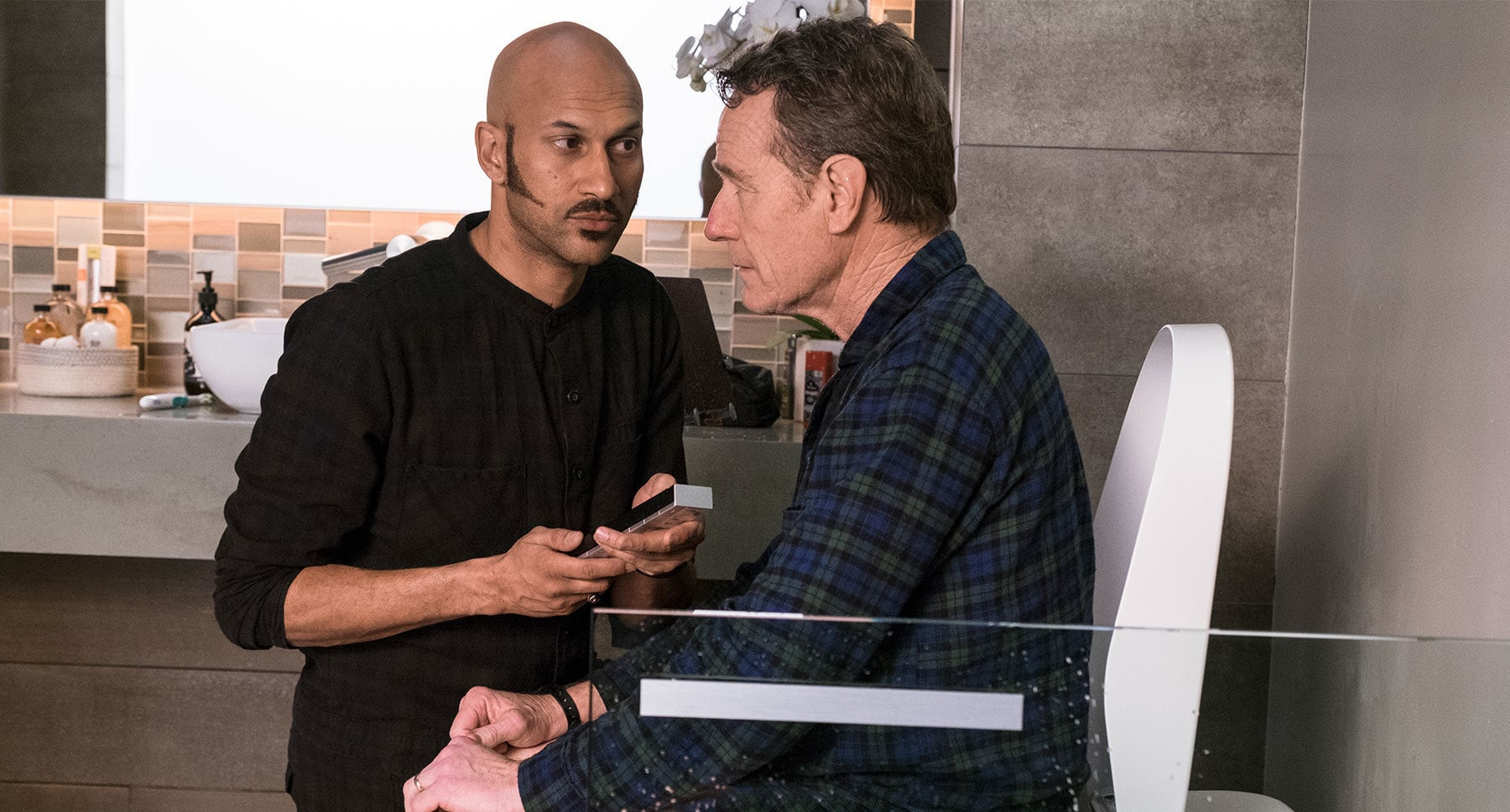 "Bryan Cranston and Keegan-Michael Key in ""Why Him?"""