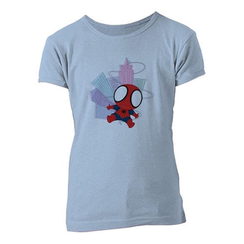 Spider-Man Chibi Tee for Girls - Customizable