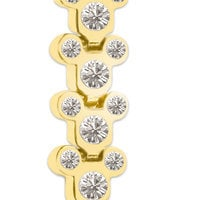 Mickey Mouse Yellow Gold Plated Bracelet - Disney Designer Jewelry Collection