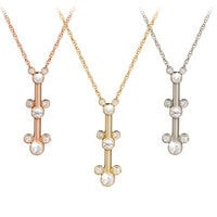 Diamond Mickey Mouse Pendant Necklace - 18 Karat
