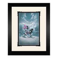 Image of Mickey and Minnie Mouse ''Alaska Adventure (Love is Adventure)'' Framed Deluxe Print by Noah # 1