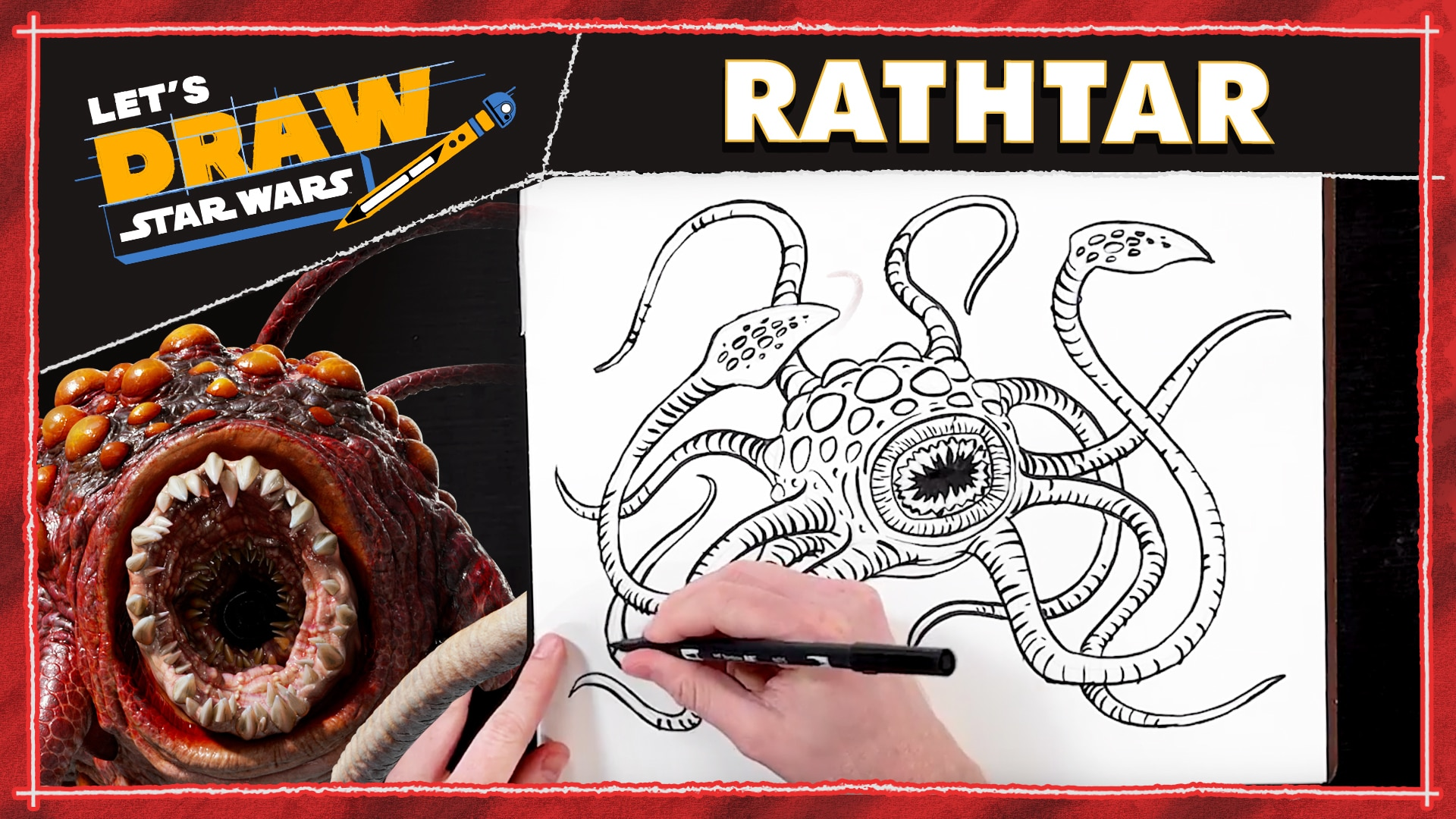 How to Draw a Rathtar | Let's Draw Star Wars