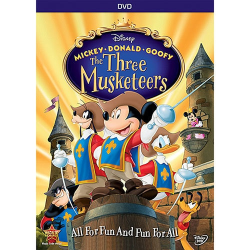 Mickey Donald Goofy The Three Musketeers Dvd 10th