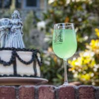 Image of The Haunted Mansion Stemmed White Wine Glass # 2