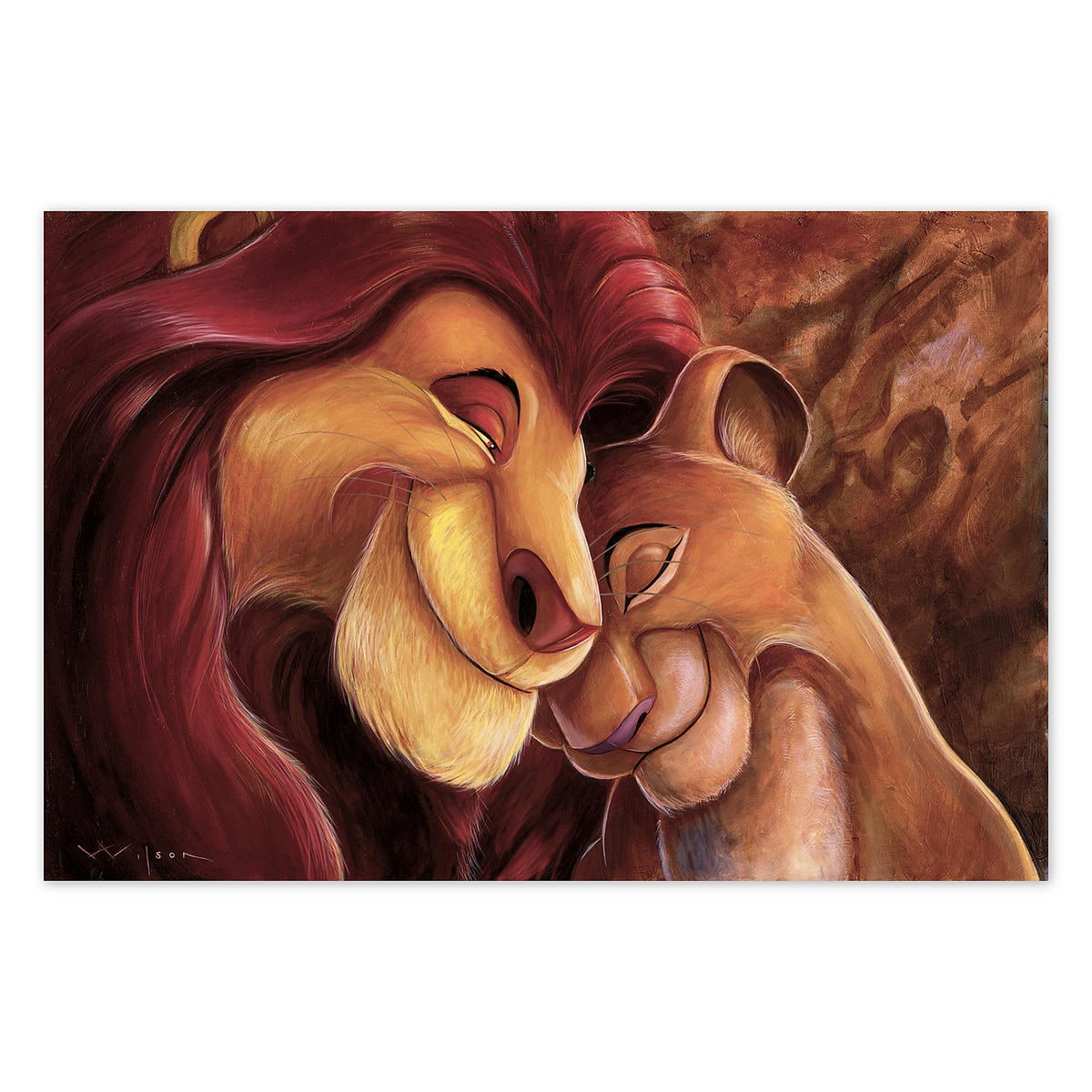 the lion king pride love everlasting giclée by darren wilson